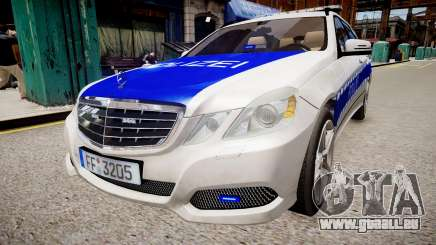 German Police Mercedes Benz E350 pour GTA 4