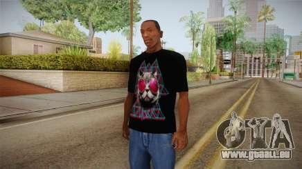 3D Space Cat T-Shirt pour GTA San Andreas