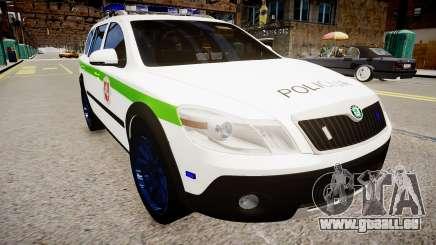 Lithuanian Police Skoda Octavia Scout für GTA 4