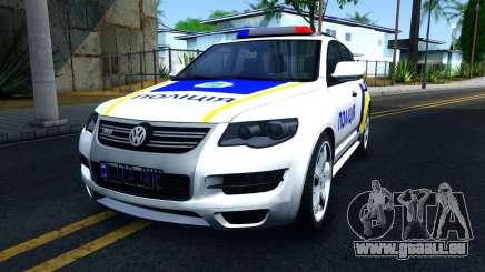 Volkswagen Touareg Polizei Der Ukraine für GTA San Andreas