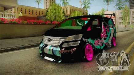 Toyota Vellfire - Miku Hatsune Itasha für GTA San Andreas