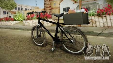 Police Mountain Bike für GTA San Andreas linke Ansicht