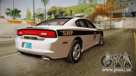 Dodge Charger 2013 SA Highway Patrol v1 für GTA San Andreas rechten Ansicht