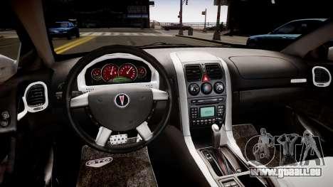 Pontiac GTO pour GTA 4 est une vue de l'intérieur