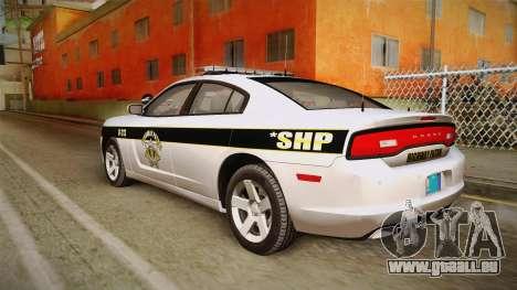 Dodge Charger 2013 SA Highway Patrol v1 für GTA San Andreas linke Ansicht