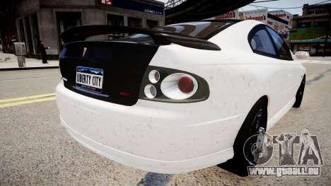Pontiac GTO pour GTA 4 Vue arrière de la gauche