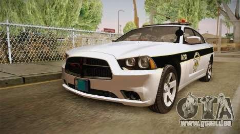 Dodge Charger 2013 SA Highway Patrol v1 für GTA San Andreas zurück linke Ansicht