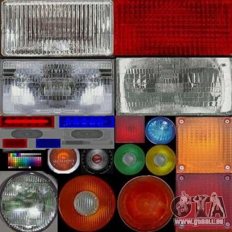 New police lights (For Modders) für GTA San Andreas her Screenshot