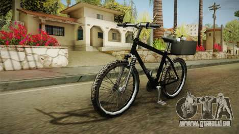 Police Mountain Bike für GTA San Andreas zurück linke Ansicht