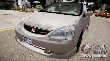 Honda Civic TypeR 2002 pour GTA 4 Vue arrière de la gauche