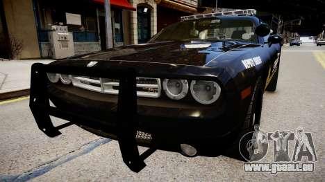 Dodge Challenger Liberty Sheriff 2010 pour GTA 4 est un droit