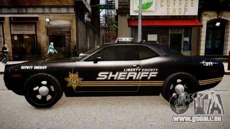Dodge Challenger Liberty Sheriff 2010 pour GTA 4 est une gauche