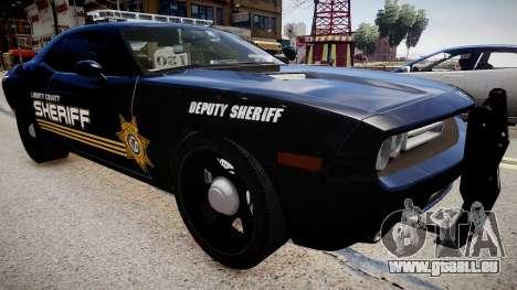 Dodge Challenger Liberty Sheriff 2010 pour GTA 4