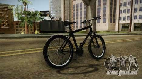 Police Mountain Bike für GTA San Andreas rechten Ansicht