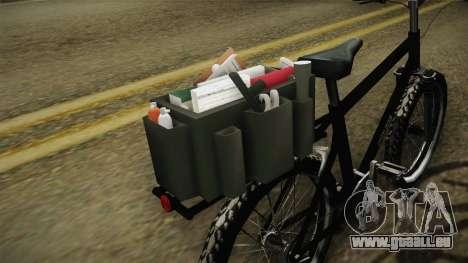 Police Mountain Bike für GTA San Andreas Rückansicht
