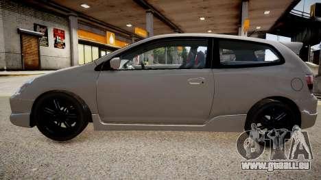 Honda Civic TypeR 2002 pour GTA 4 est un droit