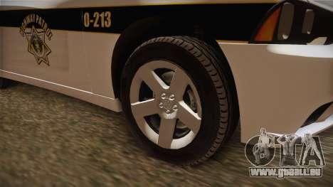 Dodge Charger 2013 SA Highway Patrol v1 für GTA San Andreas Rückansicht