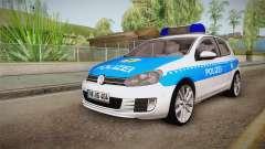 Volkswagen Golf Mk6 Police für GTA San Andreas