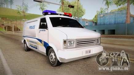 Brute Pony 1992 Metropolitan Police Department für GTA San Andreas