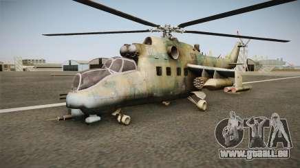 CoD Series - Mi-24D Hind Woodland pour GTA San Andreas