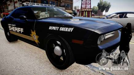 Dodge Challenger Liberty Sheriff 2010 pour GTA 4