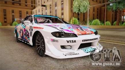 Nissan Silvia S15 Kurousagi Itasha pour GTA San Andreas