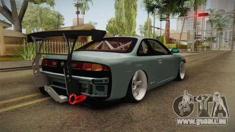 Nissan Silvia S14 Drift v2 pour GTA San Andreas laissé vue