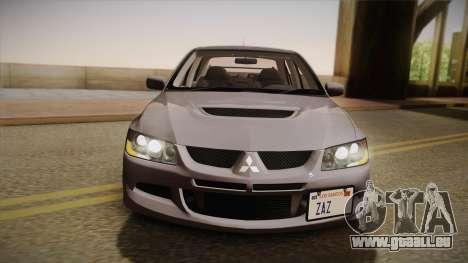 Mitsubishi Lancer GSR Evolution VIII 2003 für GTA San Andreas rechten Ansicht