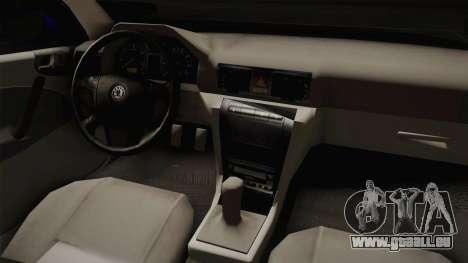 Skoda Octavia Simply Clean für GTA San Andreas Innenansicht