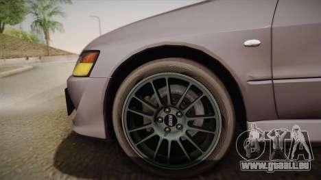 Mitsubishi Lancer GSR Evolution VIII 2003 für GTA San Andreas zurück linke Ansicht