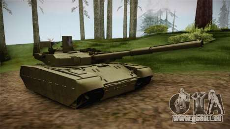 T-84 Oplot-M pour GTA San Andreas sur la vue arrière gauche