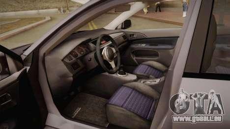 Mitsubishi Lancer GSR Evolution VIII 2003 für GTA San Andreas Seitenansicht