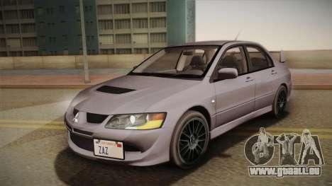 Mitsubishi Lancer GSR Evolution VIII 2003 für GTA San Andreas