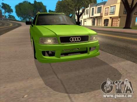 Audi 80 NFS für GTA San Andreas zurück linke Ansicht