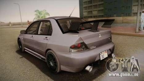 Mitsubishi Lancer GSR Evolution VIII 2003 für GTA San Andreas Innen