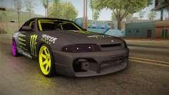 Nissan Skyline R33 Drift Monster Energy Falken für GTA San Andreas