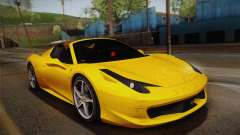 Ferrari 458 Spider FBI pour GTA San Andreas