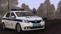 Renault Logan SUR la police de la circulation