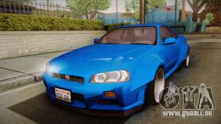 Nissan Skyline R34 14th Street für GTA San Andreas