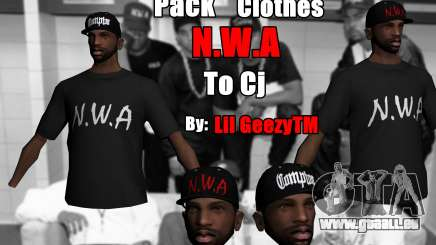 Pack Clothes N.W.A To Cj HD pour GTA San Andreas