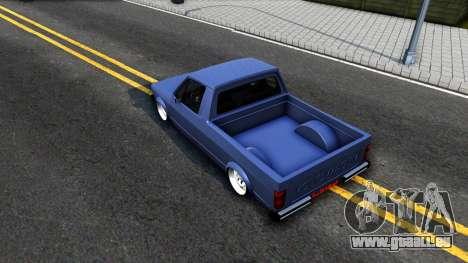 Volkswagen Caddy 1980 pour GTA San Andreas vue arrière