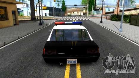 Vincent Cop pour GTA San Andreas sur la vue arrière gauche