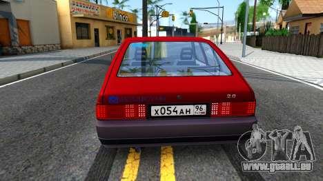 AZLK 2141 pour GTA San Andreas sur la vue arrière gauche