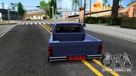 Volkswagen Caddy 1980 pour GTA San Andreas sur la vue arrière gauche
