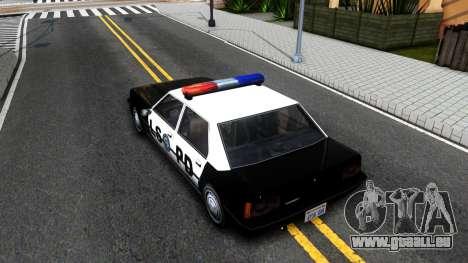 Vincent Cop pour GTA San Andreas vue arrière