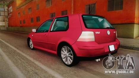Volkswagen Golf GTI für GTA San Andreas zurück linke Ansicht