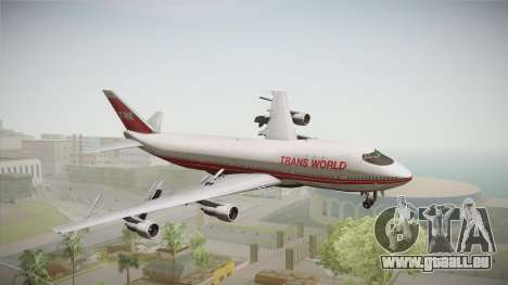 Boeing 747 TWA Solid Titles Livery pour GTA San Andreas