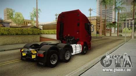 Iveco Stralis Hi-Way 560 E6 6x4 v3.1 für GTA San Andreas zurück linke Ansicht