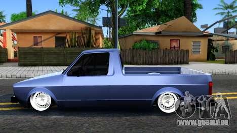 Volkswagen Caddy 1980 pour GTA San Andreas laissé vue