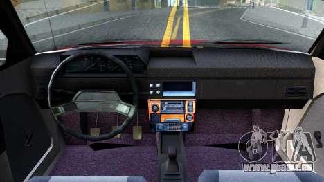 AZLK 2141 pour GTA San Andreas vue intérieure